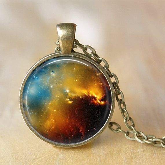 NEBULA Necklace Space Omega Pendant Carina by LiteraryArtPrints