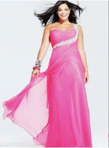 ADNA - Evening dresses Plus size Sheath/Column Floor length Chiffon One shoulder Occasion dress