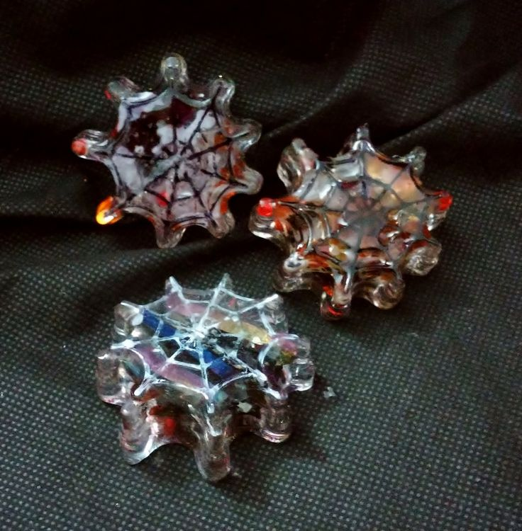 Magical Crystals in Resin Spider's Webb Touch Stones with Clear Quartz, Carnelians and Rainbow Aura Quartz by KomacOrgonite on Etsy