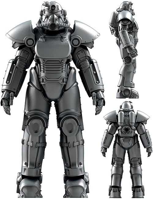 Concept art for a T51 power armor suit in Fallout. From http://www.writeups.org/vault-dweller-fallout-3/