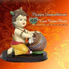 lord krishna janmashtami wishes greetings cards with name editing online free. add text happy janmashtami celebration wishes image. best wishes for janmashtami pics with name