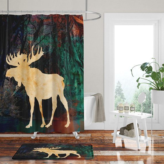 Moose Shower Curtain Christmas Card Ornaments Cross Stitch