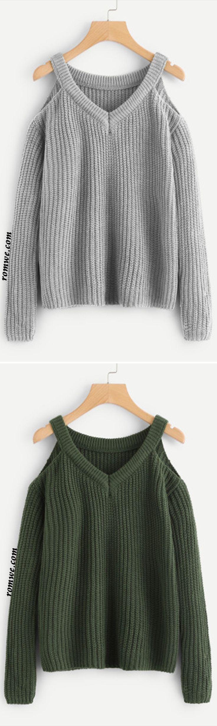 Open Shoulder Chunky Knit Jumper