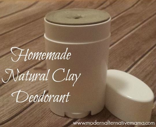 Homemade clay deodorant -- no aluminum, no baking soda!  Great for detox!  Easy to make with only 6 ingredients!