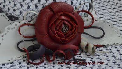 Беларома: Мастер-класс - цветок из кожи - камелия.