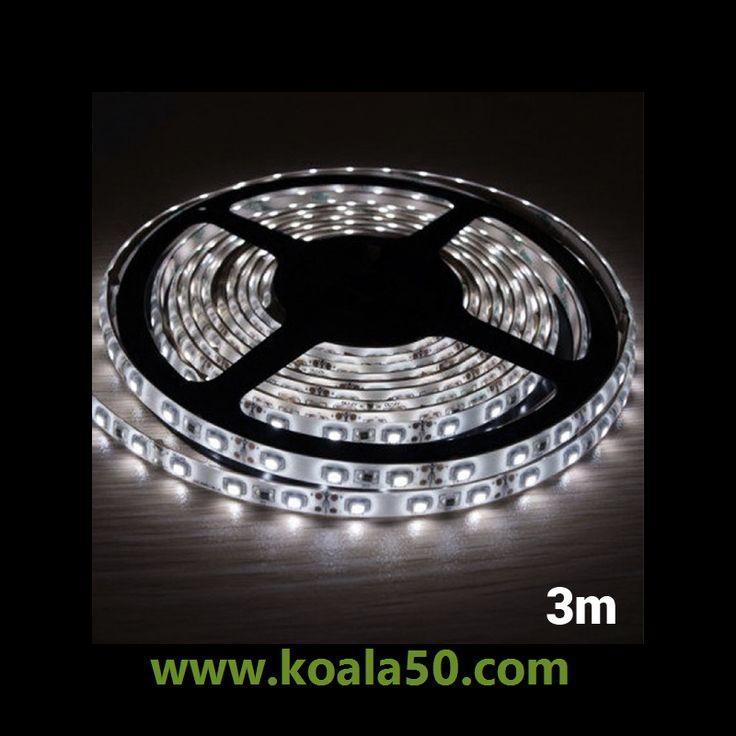 Tira LED Blanca para Interiores MegaLed (3 m + 90 LED) - 14,40 €   No te pierdas la tira LED blanca para interiores MegaLed (3 m + 90 LED) para iluminar y decorar los rincones favoritos de tu hogar. Estas luces LED cálidas disponen de adhesivo y son flexibles, así...  http://www.koala50.com/iluminacion-led/tira-led-blanca-para-interiores-megaled-3-m-plus-90-led