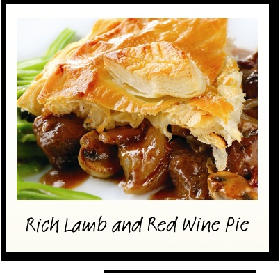 Rich Lamb and Red Wine Pie