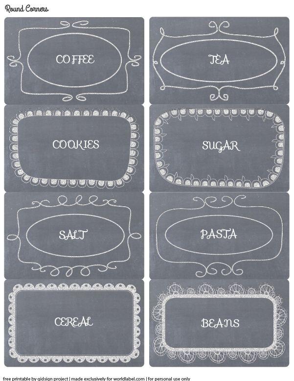 Hand Doodled Chalkboard Labels: Free Printables