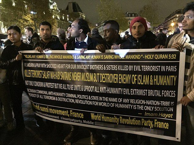It's a religion of peace— Only 30 Muslims turned out to protest the bloody ISIS attacks in Paris last week. ...
