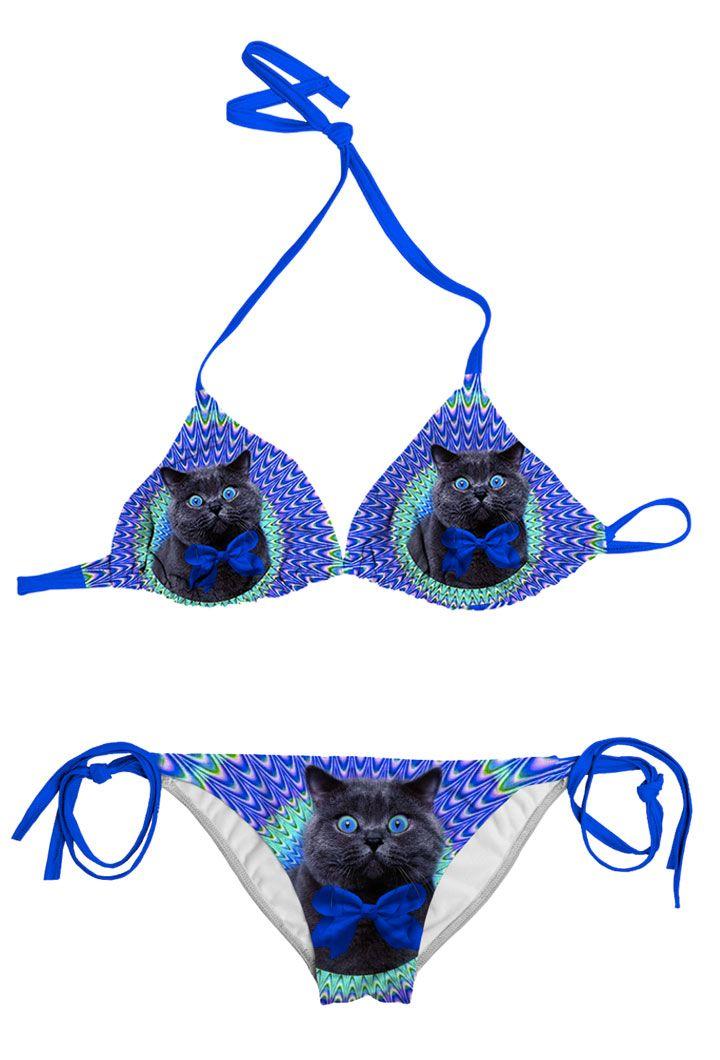 This Crazy Cat Bikini Is Amazing dont'cha think?