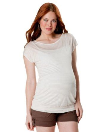 A Pea in the Pod: Short Sleeve Boat Neck Drop Shoulder Maternity T Shirt A Pea in the Pod. $39.99