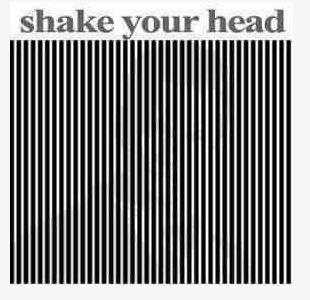 'Shake your head' illusie schut je hoofd, en je ziet IETS....