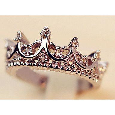 Anillos transparentes Declaración Rhinestone de las mujeres de la Corona de moda () (1 PC) – MXN $ 94.94