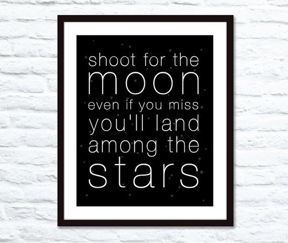 Inspirational Quotes On Pinterest: Shoot For The Moon Stars