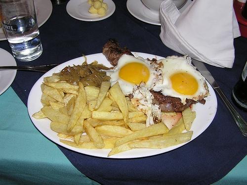 Platos típicos Chilenos: Bistek a lo pobre
