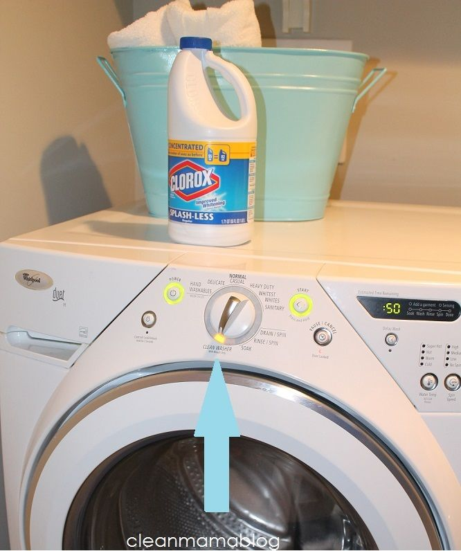Cleaning Your Washing Machine With Clorox Bleach Home Pinterest Hacks And Clean
