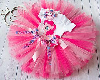 Rosa de mi Little Pony primera 1 º 2 º 3 º cumpleaños Pinkie Pie cumpleaños Tutu conjunto bebé tutú Pinkie Pie 1 de Europa