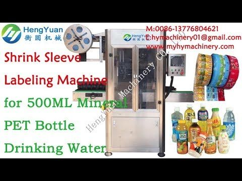 Automatic 500ml mineral drinking pure water shrink sleeve labeling machine