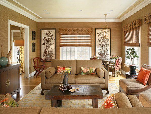 mocha-colored room