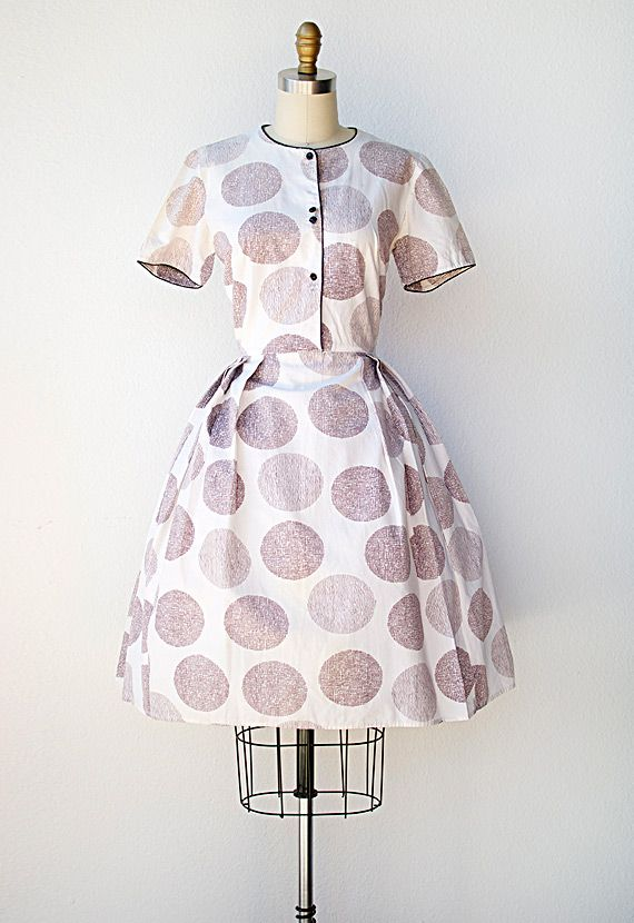 ★ vintage 1950s dress | Hydrangea Bunch Dress | #1950s