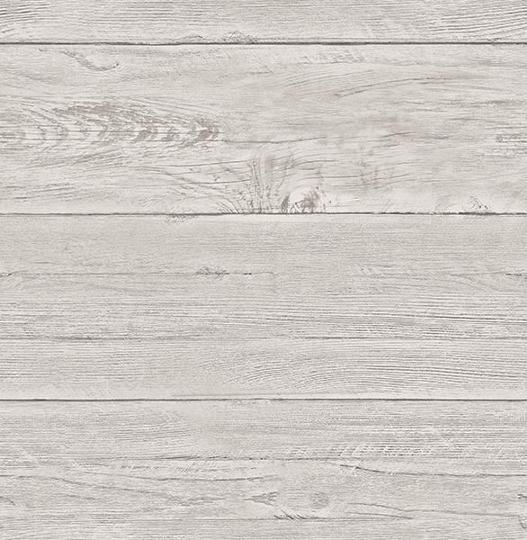 White Washed Boards Grey Shiplap - Wallpaper