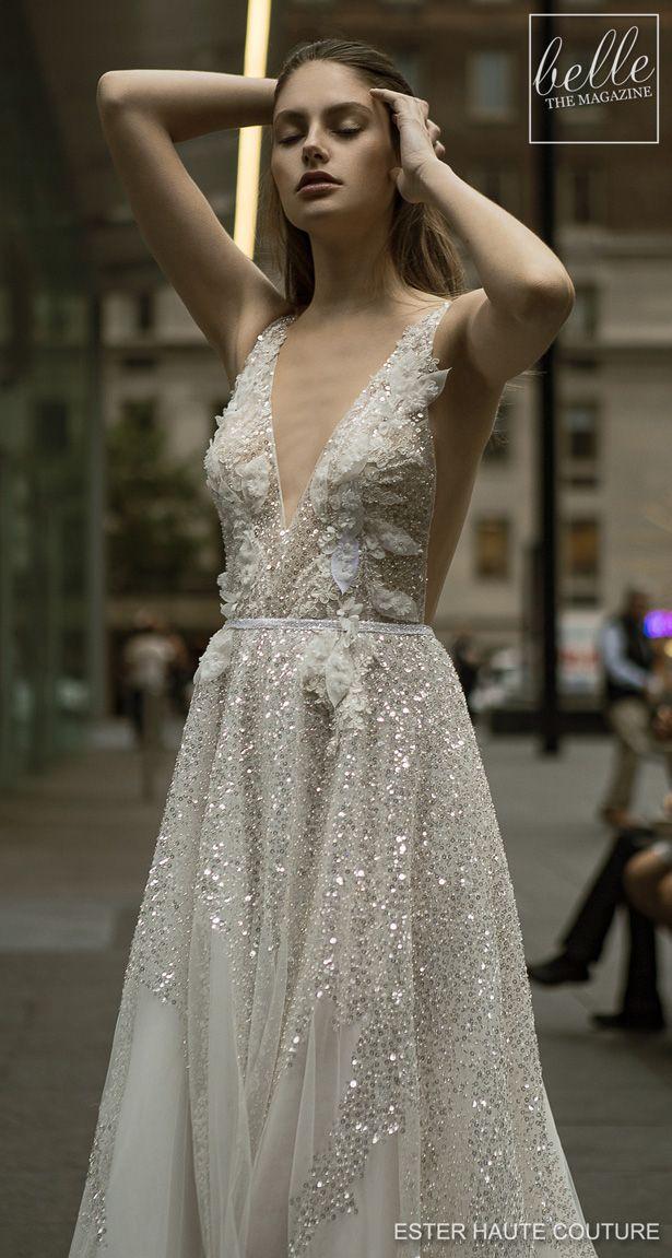 Ester Haute Couture Wedding Dresses 2019 Belle The Magazine Haute Couture Wedding Dress Sleeveless Wedding Dres Wedding Dress Couture
