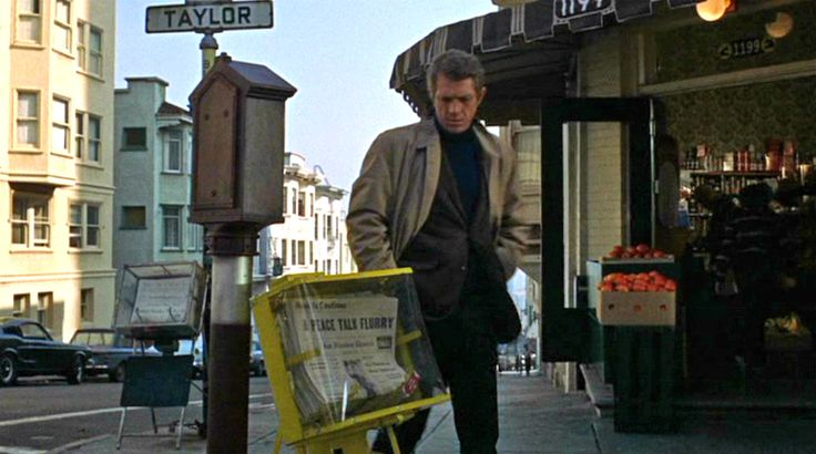 Your travel guide to the San Francisco filming locations of Peter Yates' Bullitt starring Steve McQueen, movie locations, film locations, where was Bullit and its famous chase filmed