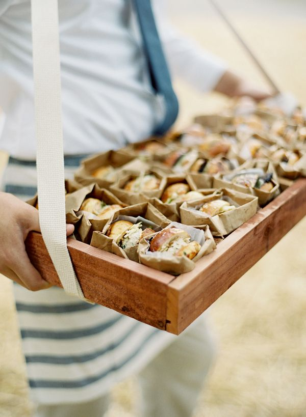Emily Current and David Brotherton, Dos Pueblos Ranch Wedding | Jose Villa | passed hors d'oeuvres
