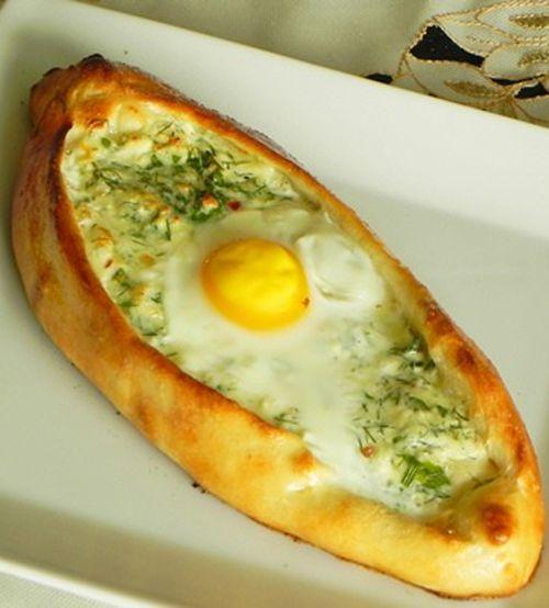 Открытые пирожки с яйцами