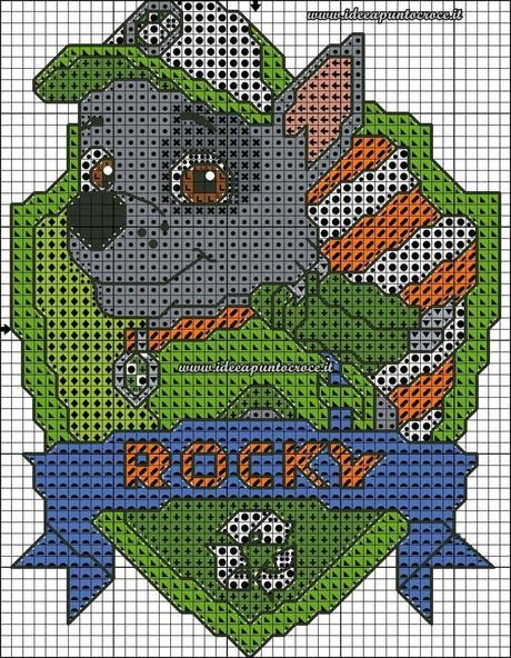 Patrones de punto de cruz de la Patrulla Canina. (Paw patrol Cross stitch patterns)