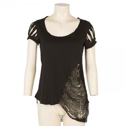 'Rags Rock' T-shirt Black by Maria Patelis