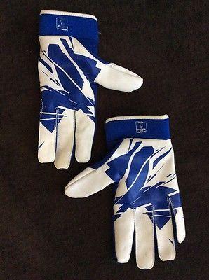 Under Armour Men's UA Nocsae Blue And White Gloves