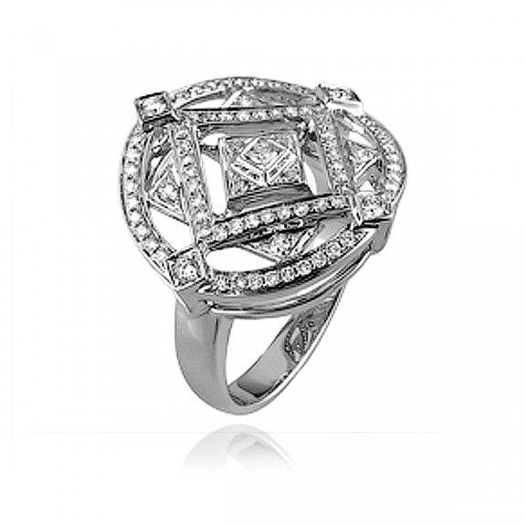 18kt White Gold Diamond Ring. $2,730.