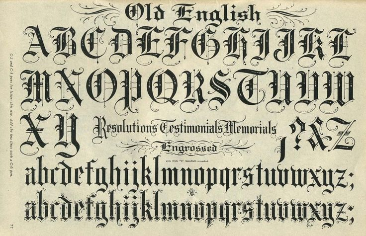 Best 25 Old English Font Ideas On Pinterest English