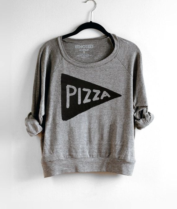 Slouchy Womens Pizza Party Lightweight Sweatshirt / Pullover, brunch clothes, college kid pizza lover gift for women gift for mom, for teen