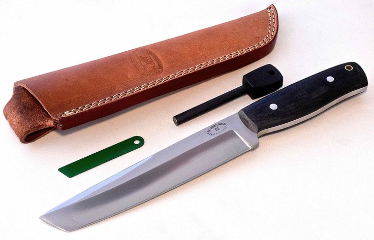 "CFK Cutlery Company USA BATTLE-RAPTOR TANTO D2 Tool Steel Camo Micarta Hunting Camping Bushcraft Knife with Sheath & Fire Starter Rod Set CFK126. SPECIFICATIONS: 11 1/4"" Overall, 6 7/8"" Blade, 6 1/2"" Cutting Edge, 4 1/4"" Reverse Rounded False Edge, 1/4 "" Thick, 1 1/4"" Blade Width, 4 3/8"" Long Handle, 10 Ounces. Custom Handmade D2-Tool-Steel Full Tang Hollow Grind Blade - Tempered to 59HRC - Balanced and Sharp!. Camo-Linen Dark Color Micarta Comfort-Grip Micarta Handles - Aluminum Rod Pins…"
