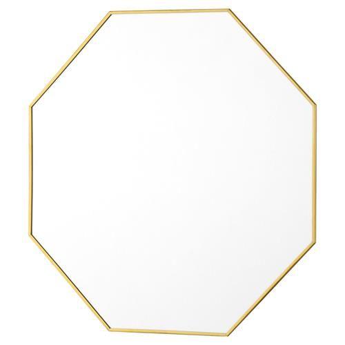 Abira Modern Brass Octagon Mirror - 19D