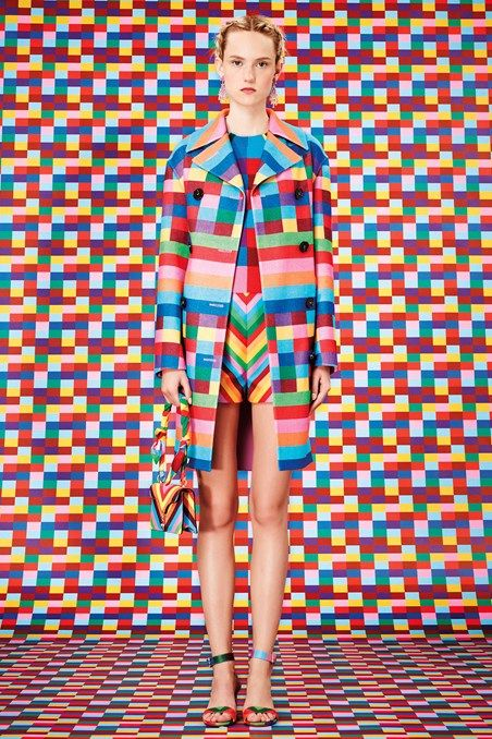 Valentino / fashion / SS15 / cubes / patterns / art direction / colours / trend