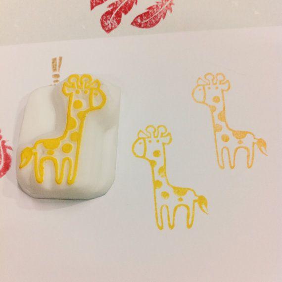 giraffe rubber stamp  giraffe pattern rubber stamp  by DeerdayShop