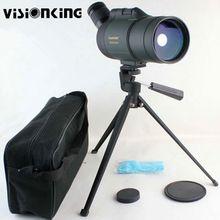 Visionking 25-75×70 telescopio terrestre MAK Impermeable Zoom Spotting Scope para la Observación de Aves Telescopio Con Trípode de Largo Alcance de Tiro al blanco
