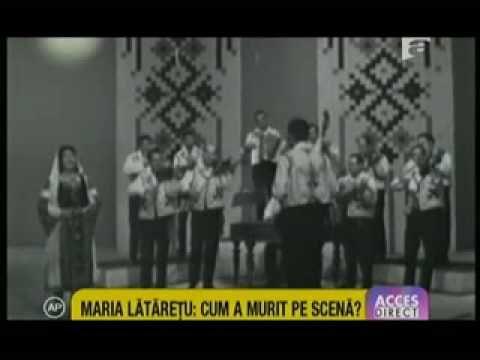 Cum a murit pe scena cântareata Maria Lataretu