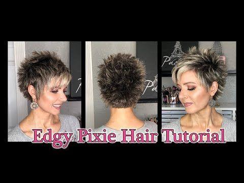 4 Hair Tutorial Edgy Pixie Style Youtube Hair Tutorial Edgy Pixie Hairstyles Edgy Short Hair