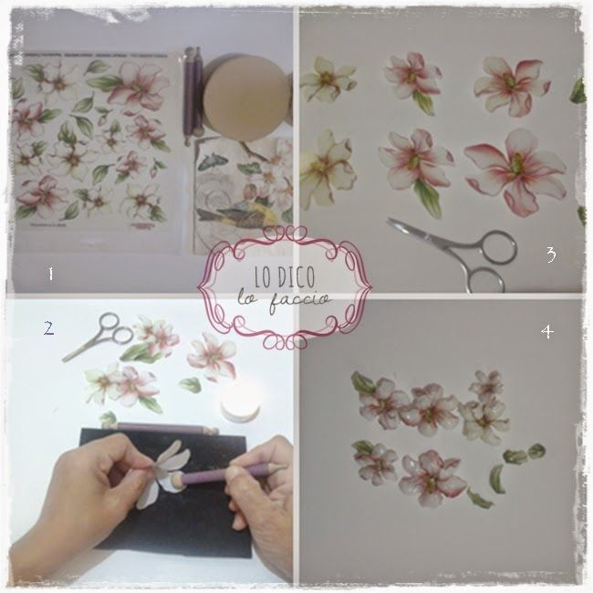 Decoupage 3 D per decorare una scatola [idea regalo]