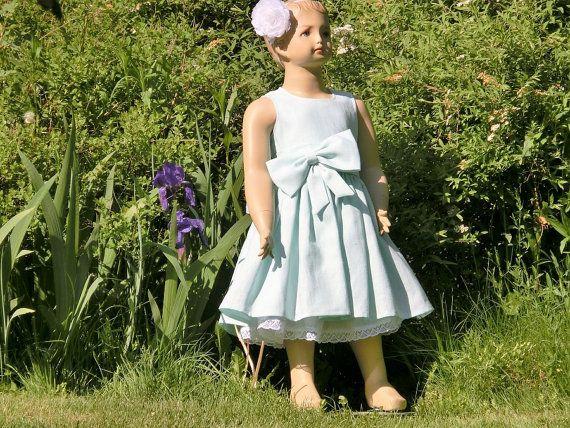 Mint flower girl dress rustic flower girl by englaCharlottaShop