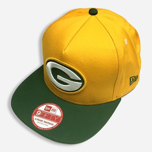 New Era NFL Green Bay Packers Turnover Yellow 2 Tone Snapback Cap 9FIFTY Hat