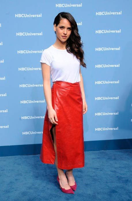 Adria Arjona at the NBC Universal Upfront Presentation in May 2016...