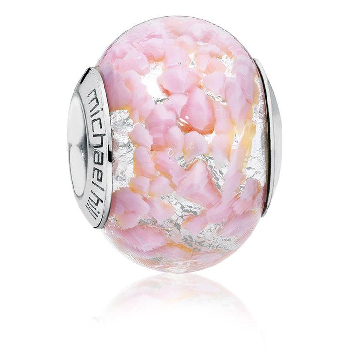 Light Pink Murano Glass Charm