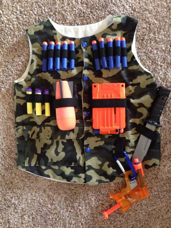 Nerf Tactical Vest by ShannieRoseSews on Etsy | Kids ...