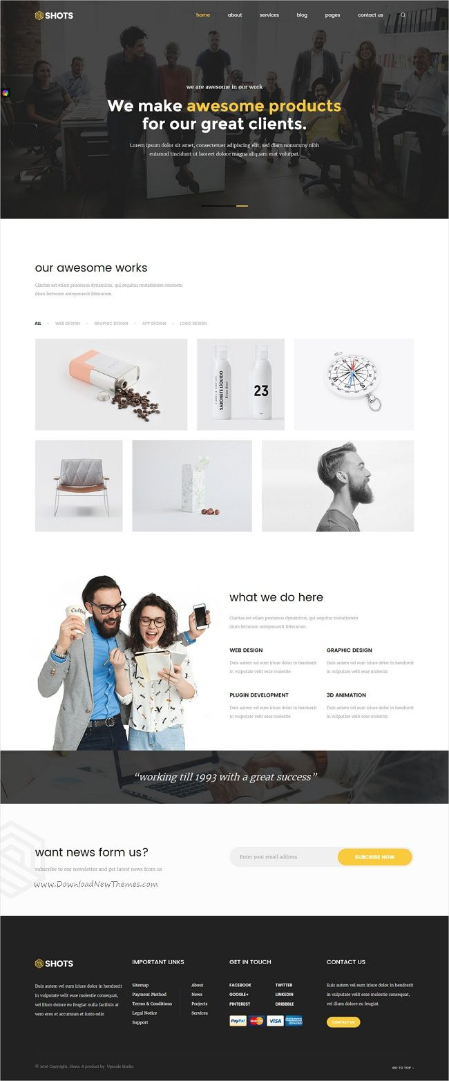 Shots is a multipurpose #HTML Bootstrap #Template for #portfolio, Agency, Startup, Business, Factory, Real Estate, Construction or any type of website with 8+ homepage styles download now➩ https://themeforest.net/item/shots-responsive-multipurpose-html5-template/17523302?ref=Datasata