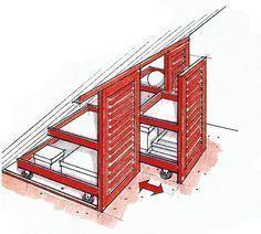 Tischler & # 39; Rollcontainer können von versierten Heimwerkern termingerecht im Ser … #WoodWorking